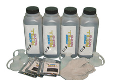 4 Pack Black High Toner Refill Kit With Chip compatible with the Samsung ML-2150, ML-2150,  ML-2151, ML-2152W