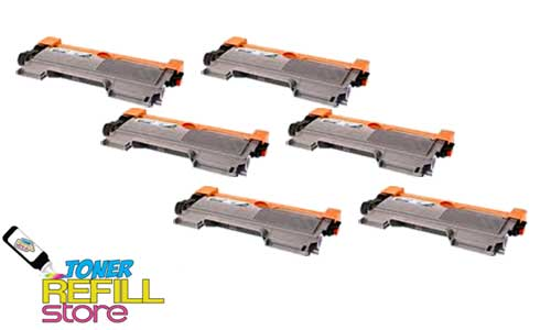 6 Pack Premium Compatible Toner Cartridges for the Brother TN450 TN-450 HL-2220 MFC-7860