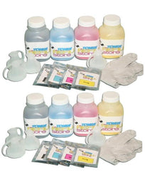 8 Pack High Yield Toner Refill Kit compatible with the Samsung CLP-320 CLP-325 CLX-3185 WITH CHIPS