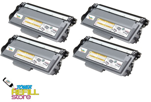 4 Compatible Brother TN780 TN-780 (12k Jumbo XXL) Super High Yield Toner Cartridges for HL-6180 MFC-8950DW MFC-8950DWT