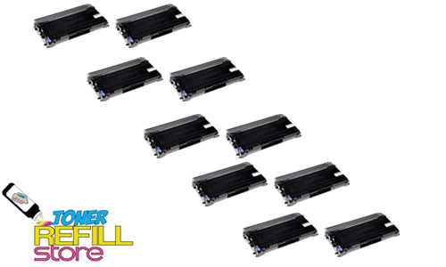 Brother TN-350 TN350 10 Pack High Yield Compatible Toner Cartridges