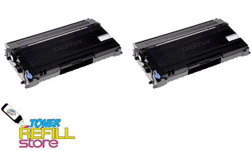 Brother TN-350 TN350 2 Pack High Yield Compatible Toner Cartridges