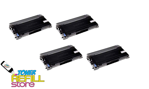 Brother TN-350 TN350 4 Pack High Yield Compatible Toner Cartridges