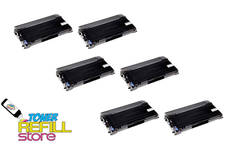 Brother TN-350 TN350 6 Pack High Yield Compatible Toner Cartridges