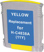 HP C4838A #11 Yellow Compatible Ink Cartridge