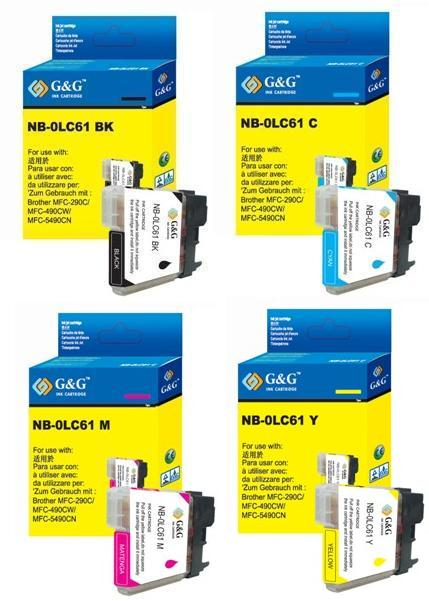 Brother LC65 LC-65 4 Pack Compatible Ink Cartridges