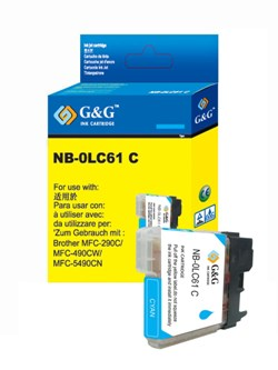 Brother LC61C LC61 Cyan Compatible Ink Cartridge