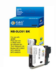 Brother LC61BK LC61 Black Compatible Ink Cartridge