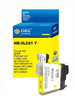 Brother LC65Y LC65 Yellow Compatible Ink Cartridge