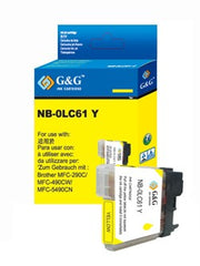 Brother LC61Y LC61 Yellow Compatible Ink Cartridge