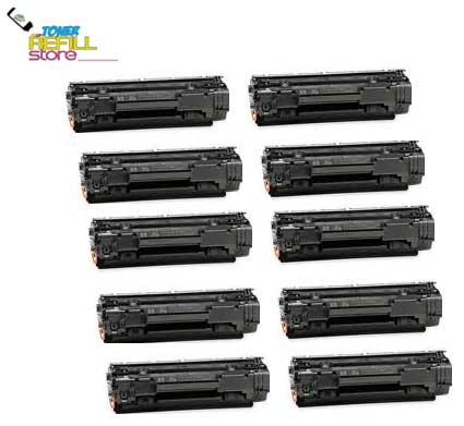 10 Pack CE278A Premium Compatible Toner Cartridges for the HP LaserJet M1536dnf, P1606dn