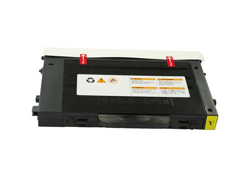 Yellow Toner Cartridge compatible with the Samsung CLP-500 CLP-550 CLP-500D5Y