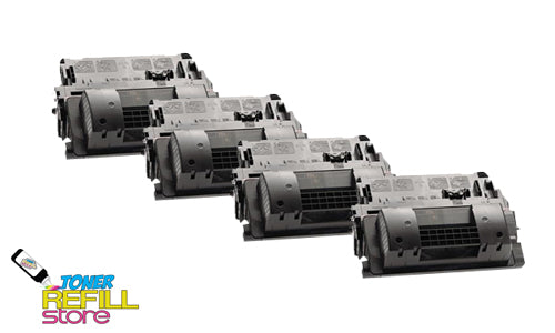 4-Pack Premium Compatible CE390X 90X High Yield Toner Cartridges for HP M4555F