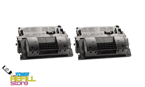 2-Pack Premium Compatible CE390X 90X High Yield Toner Cartridge for HP M4555F