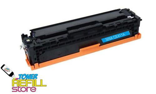 Hewlett Packard Remanufactured CE411A (HP 305A) Cyan Laser Toner Cartridge