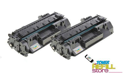 2 Pack HP CF280A (80A) Toner Cartridges for the HP LaserJet Pro 400 M401dn M401dw M401n M425dn