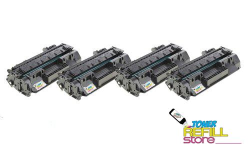4 Pack HP CF280A (80A) Toner Cartridges for the HP LaserJet Pro 400 M401dn M401dw M401n M425dn