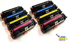 8 Pack HP Remanufactured CE410X CE411A CE412A CE413A (HP 305A & 305X) High Yield Toner Cartridges