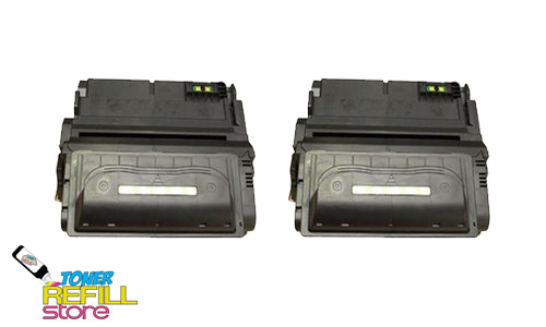 2-Pack Premium Compatible Q1338A 38A Toner Cartridge for HP LaserJet 4200 4200N