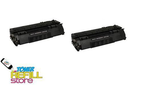 2 Pack Premium Compatible Q7553A Toner Cartridge for the HP LaserJet P2015 P2015dn