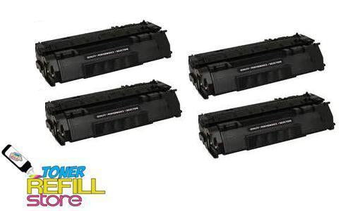4 Pack Premium Compatible Q7553A Toner Cartridge for the HP LaserJet P2015 P2015x