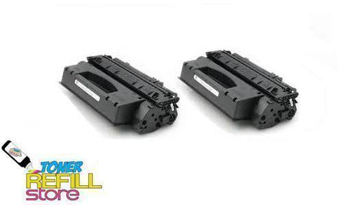 2 Pack Premium Compatible Q7553X Toner Cartridge for the HP LaserJet P2015 P2015x