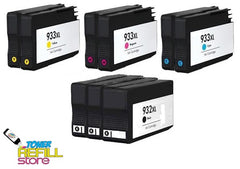 Toner Refill Store Compatible HP 932XL & 933XL 9-Set High Yield Ink Cartridges for Hewlett Packard: 3 Black & 2 each of Cyan - Magenta - Yellow