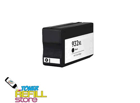 Black Compatible High Yield Ink Cartridge for HP CN053AN - 932XL - Shows Accurate Ink Levels