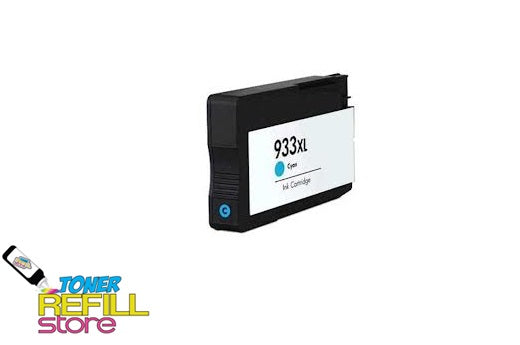 Cyan Compatible High Yield Ink Cartridge for HP CN054AN - 933XL - Shows Accurate Ink Levels