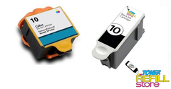 Compatible Kodak #10XL 2-Set Ink Cartridges: 1 Black & 1 Color