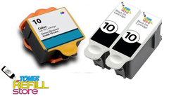 Compatible Kodak #10XL 3-Set Ink Cartridges: 2 Black & 1 Color
