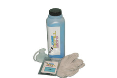 Cyan Toner Refill Kit With Reset Chip compatible with the Samsung CLP-660