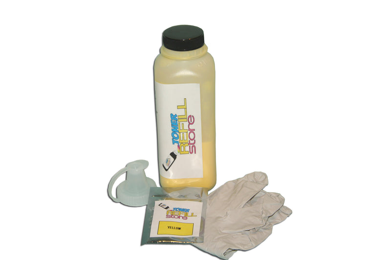 Yellow Toner Refill Kit With Reset Chip compatible with the Samsung CLP-660