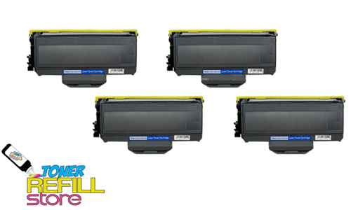 Brother TN-360 TN360 4 Pack High Yield Compatible Toner Cartridges