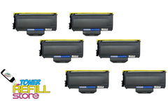 Brother TN-360 TN360 6 Pack High Yield Compatible Toner Cartridges