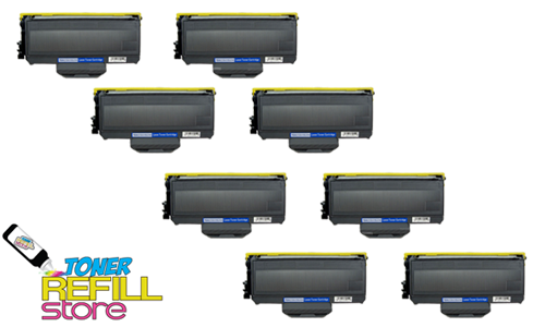 Brother TN-360 TN360 8 Pack High Yield Compatible Toner Cartridges