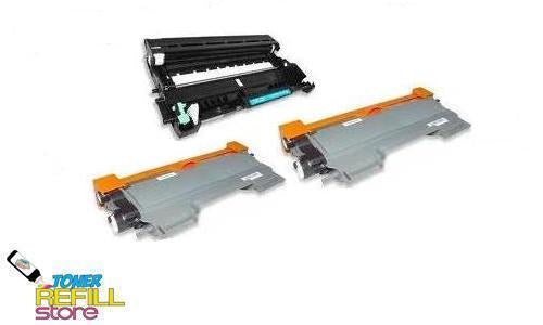 2 Pack Brother Compatible TN450 Toner Cartridges and 1 Compatible Brother DR420 Drum Unit