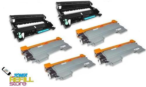 4 Pack Brother Compatible TN450 Toner Cartridges and 2 Compatible Brother DR420 Drum Unit