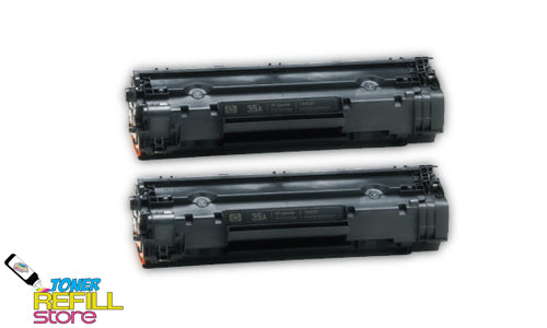 HP LaserJet CB435A P1005 P1006 2 Pack Compatible Toner Cartridges