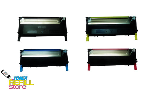 4 Pack Toner Cartridges compatible with the Samsung CLP-320 CLP-325 CLT-K407S CLT-C407S CLT-M407S CLT-Y407S