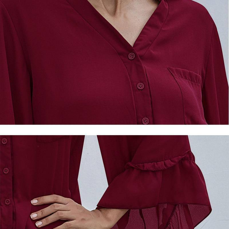 Autumn Blouse Women Clothes Chiffon Blouse Vintage Long Sleeve Cardigan Button up Shirt Top 2020 Fall Womens Clothing Fashion | 2020, Autumn, Blouse, Button, Cardigan, Chiffon, Clothes, Clothing, Fall, Fashion, Long, Shirt, Sleeve, Top, up, Vintage, Women, Womens | akolzol
