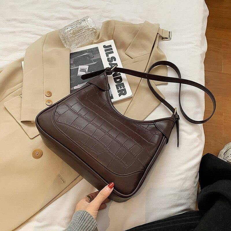 Vintage Pu Leather Shoulder Bags for Women Winter Trend Simple Crossbody Bag Branded Wild Big Capacity Female Handbags | Bag, Bags, Big, Branded, Capacity, Crossbody, Female, for, Handbags, Leather, Pu, Shoulder, Simple, Trend, Vintage, Wild, Winter, Women | akolzol