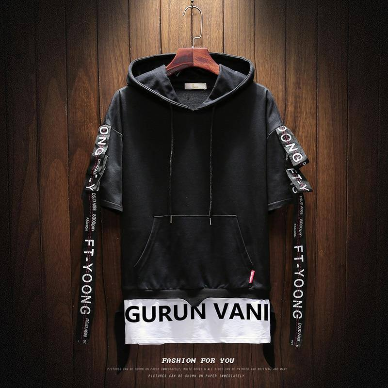 2020 Hoodies Men Summer Short Sleeve Hooded Sweatshirt Men Unisex Top Hip Hop Tracksuit Men's  punk style Casual jacket clothing | akolzol