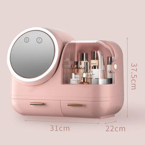2021 New Cosmetic Storage Box LED light Internal Fan Makeup Box Household Drawer Type Skin Care Product Storage Organizer Box | 2021, Box, Care, Cosmetic, Drawer, Fan, Household, Internal, LED, light, Makeup, New, Organizer, Product, Skin, Storage, Type | akolzol