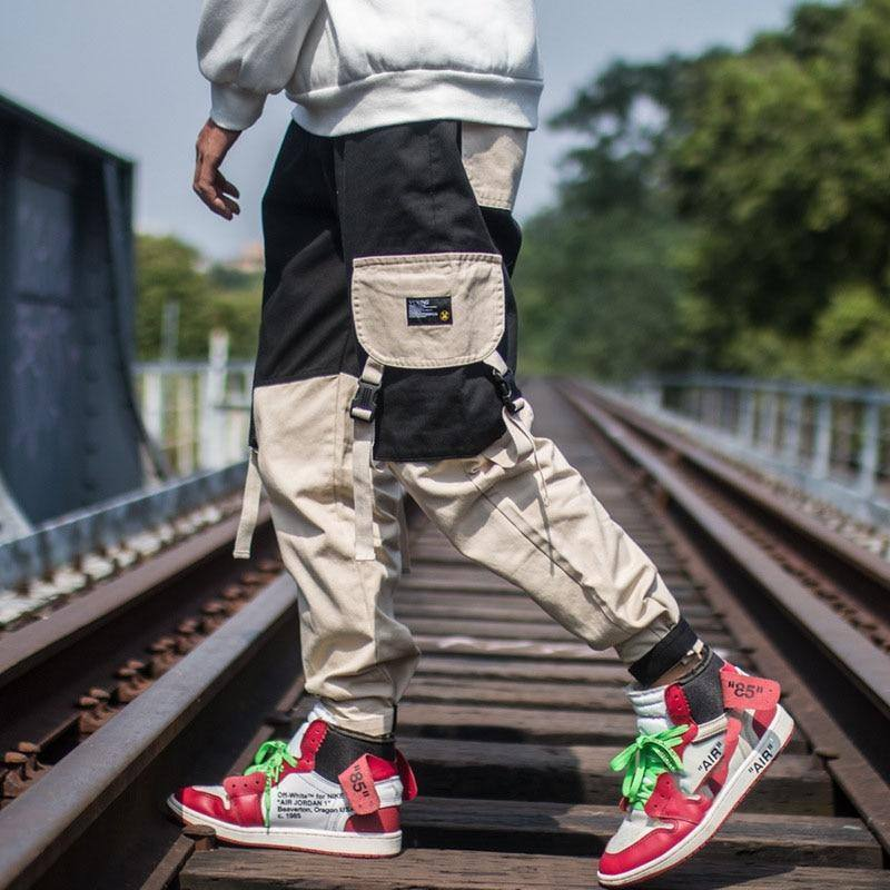 2020 spring autumn Hong Kong style multi-pocket overalls men brand students loose hip-hop casual pants close trousers | akolzol