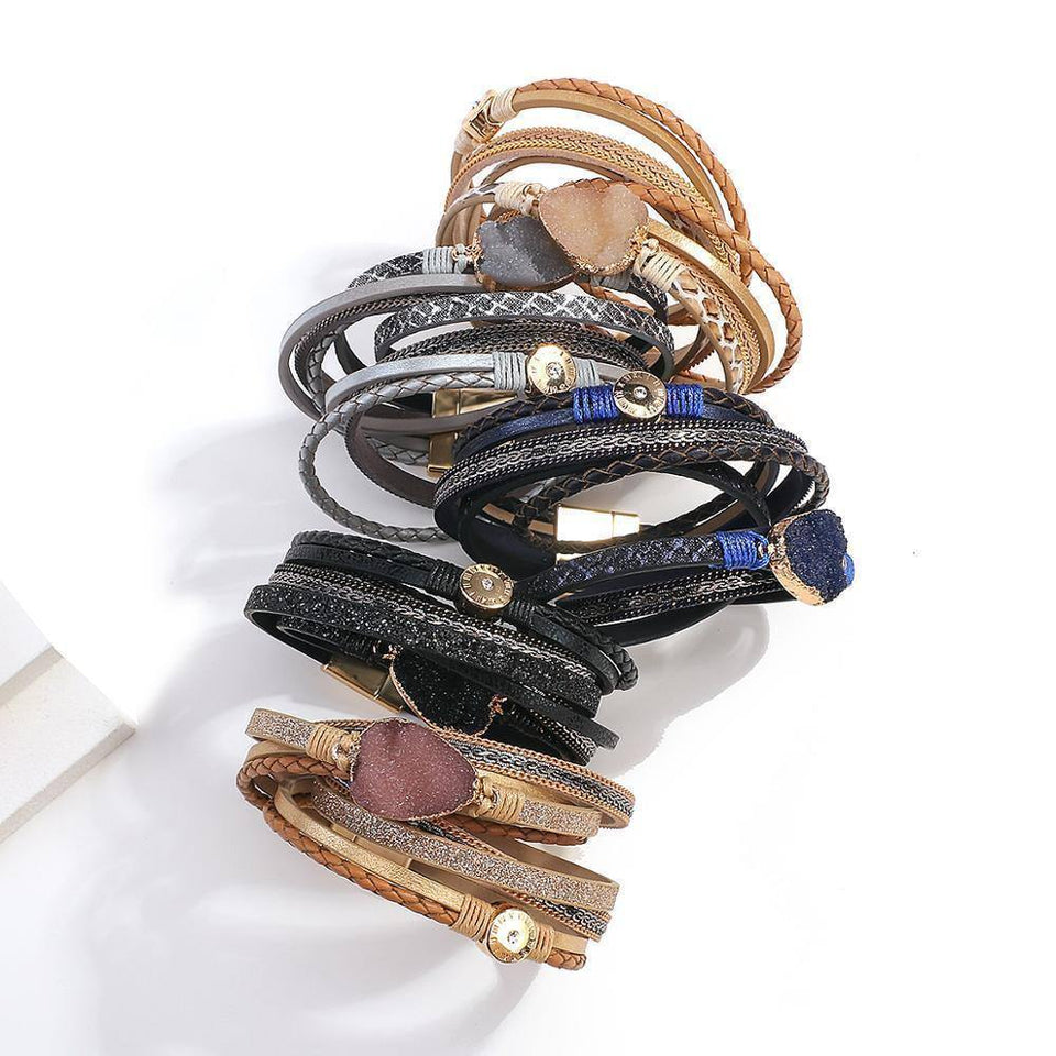 New Fashion Resin Stone Leather Bracelets for Women Boho Multilayer Wrap Accessories Bangles 2020 | 2020, Accessories, Bangles, Boho, Bracelets, Fashion, FLASHBUY, for, Leather, Multilayer, New, Resin, Stone, Women, Wrap | akolzol