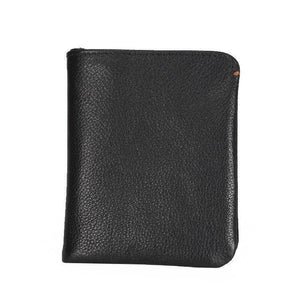 Natural Skin Slim Men's Wallet Genuine Leather Casual Small Purse Credit Business Card Holder Wallet Bifold Money Bag Coin Purse | akolzol