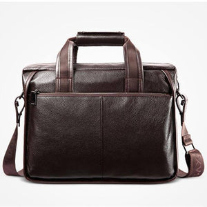 2020 New Fashion Cowhide Male Commercial Briefcase/Real Leather Vintage Men's Messenger Bag/Casual Natural Cowskin Business Bags | akolzol