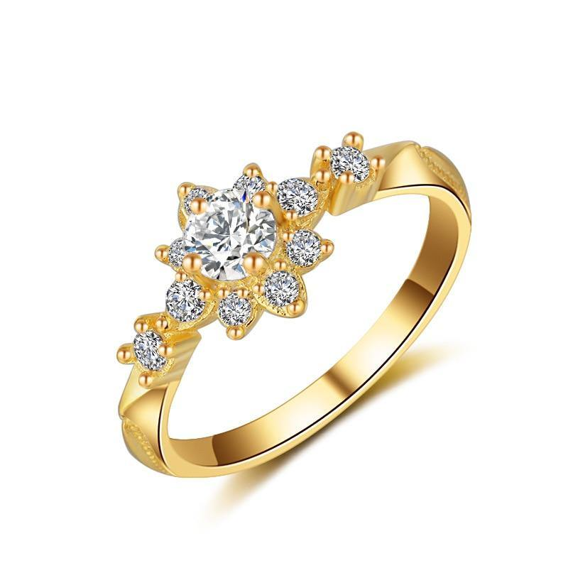 925 Silver Color Flower VVS1 Diamond Ring for Women Luxury Wedding Bizuteria Tgopaz Gemstone 925 Jewelry and 14K Gold Ring Box | akolzol