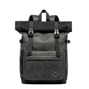 Fashion Brand Men's Leather High Quality Backpack Youth Travel Rucksack School Laptop Bags Male Business Shoulder Bag Mochila | akolzol